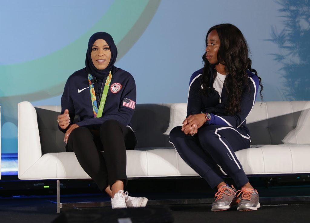 Muhammad (left) and Nwaba (right)