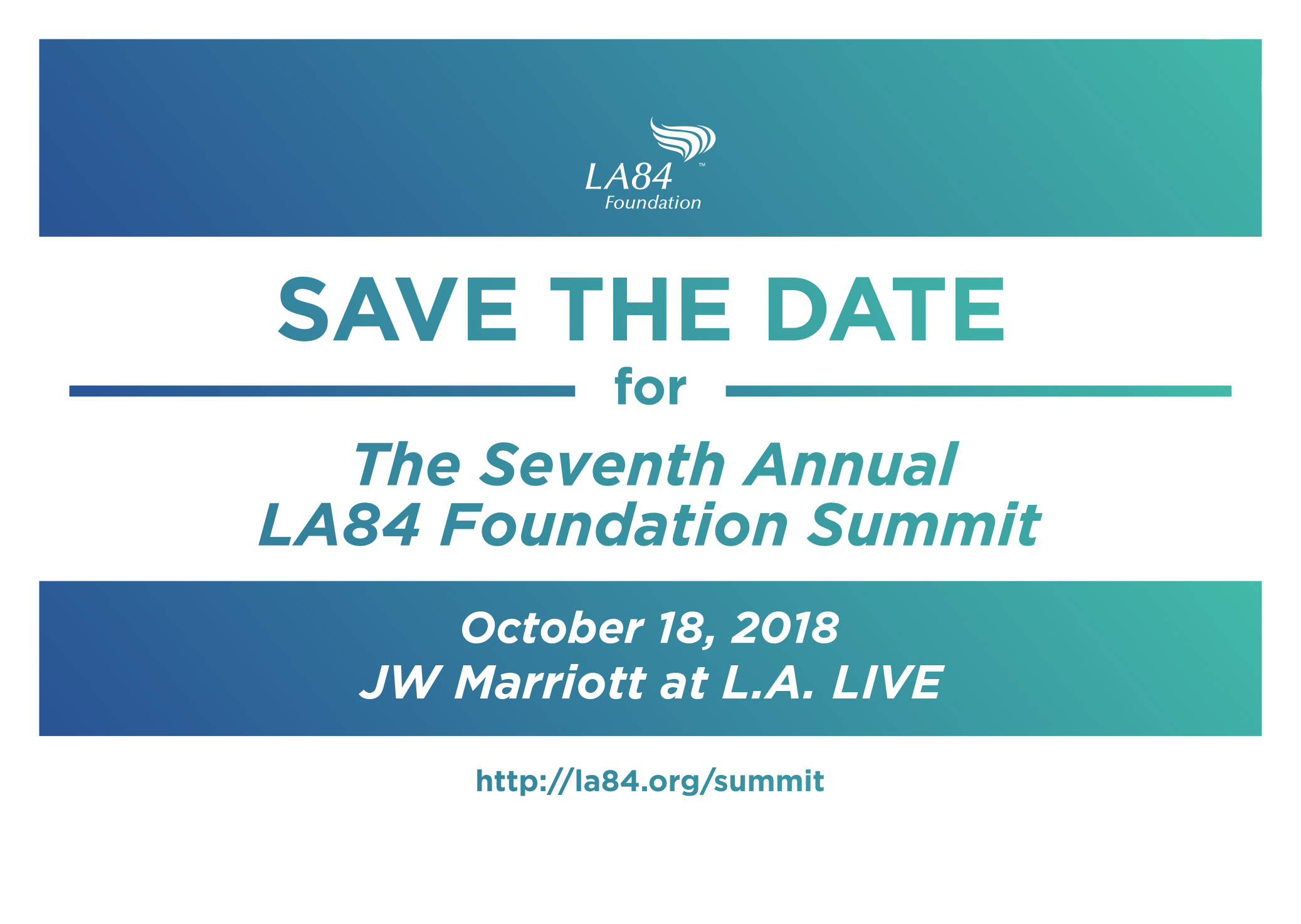 2018 Summit Save the Date