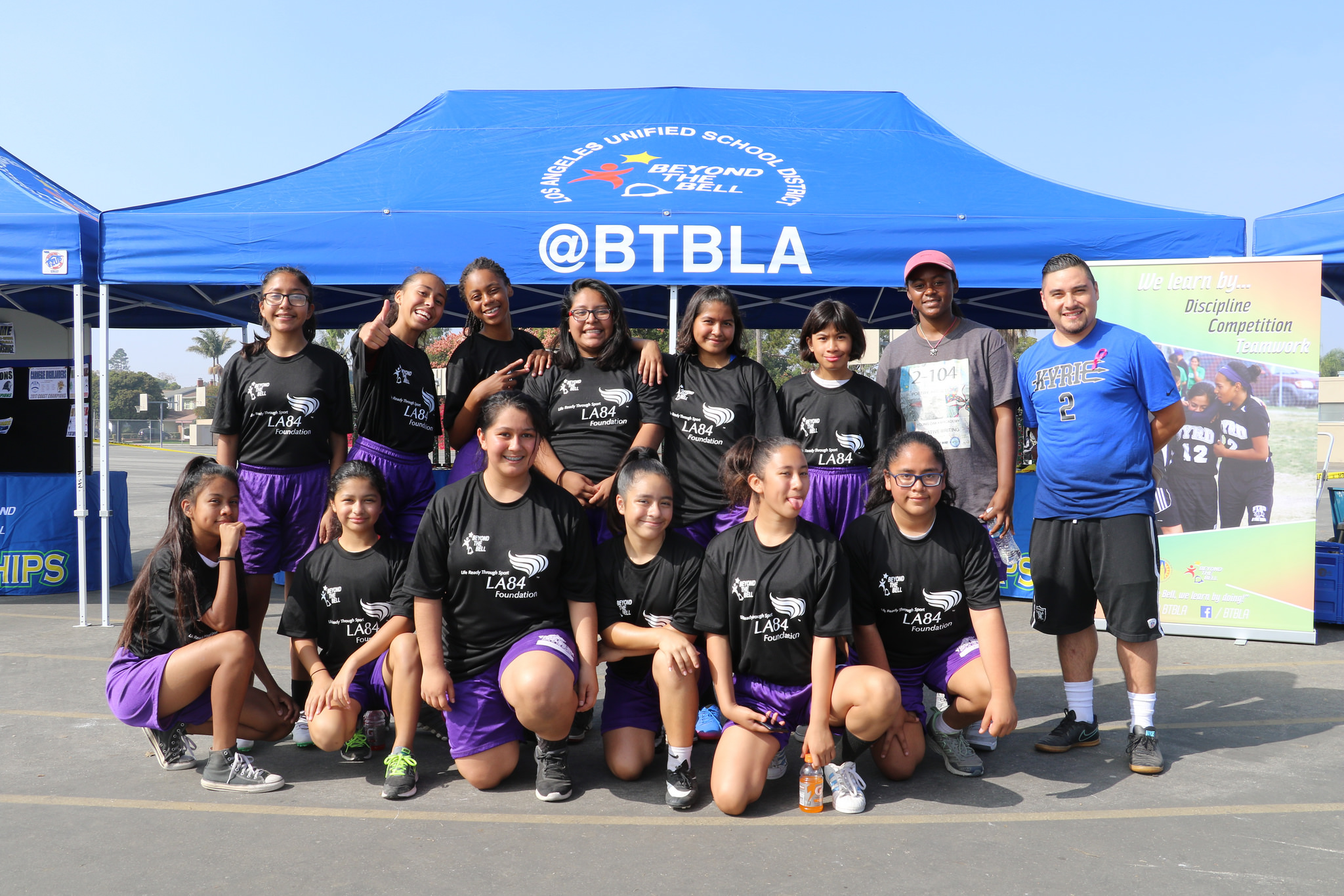 Youth from Beyond the Bell, a longtime LA84 Foundation grantee.
