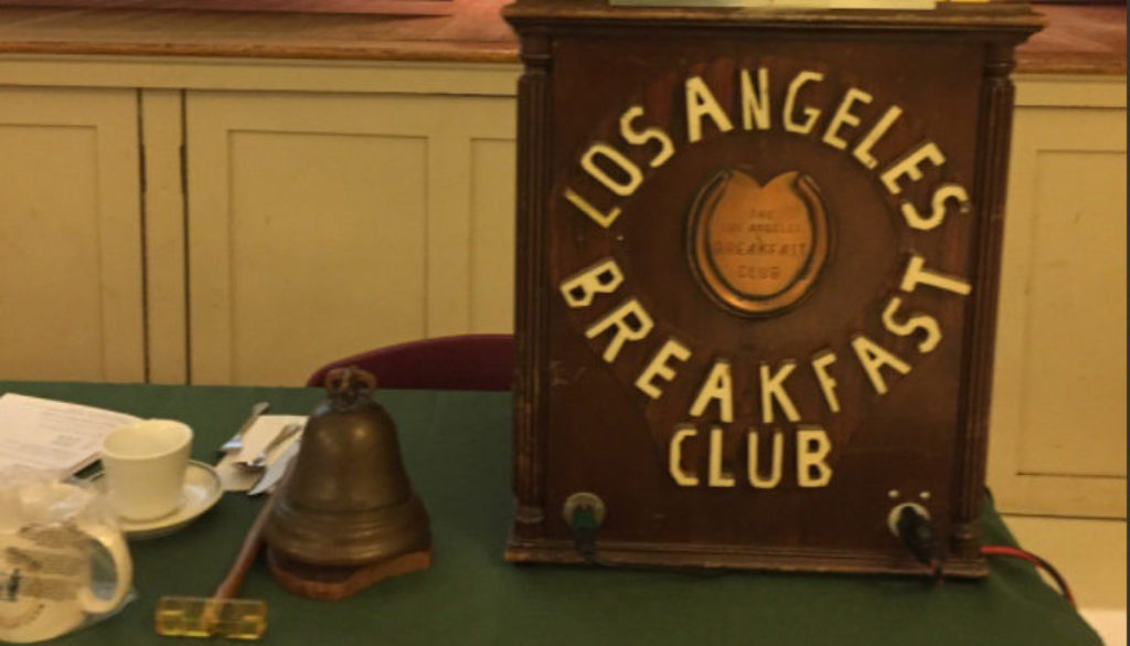 LA84's Jeremy Rosenberg Speaks at Los Angeles Breakfast Club
