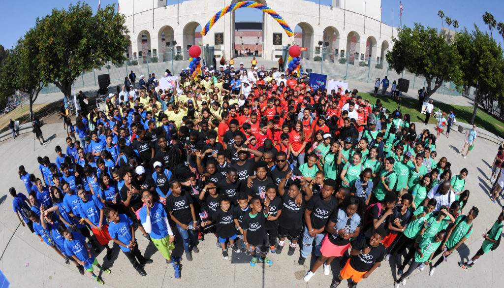 Olympic Day at the Los Angeles Memorial Coliseum