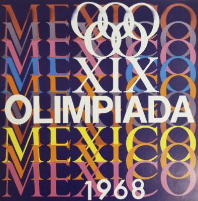 XIX Olimpiada Mexico 1968 Advertising Poster. Offset Lithograph 12 x 12 inches Comité Organizador de la XIX Olimpida Impresa de Industria Y Comercio, S.A
