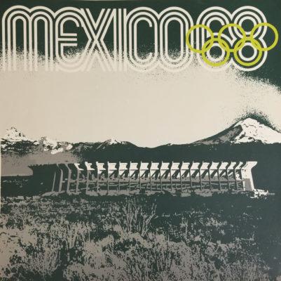 Mexico 68, Aztec Stadium Advertising Poster. Offset lithograph 24 x 24 inches Comité Organizador de la XIX Olimpida Impresa en Mexico Por Impresos Automaticos de Mexico, S.A.