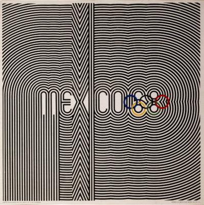 Games of the XIX Olympiad, Mexico City 1968 Primary Poster. Offset Lithograph 35 x 35 inches Comité Organizador de la XIX Olimpida Impreso en Mexico Por Miguel Galas, SA