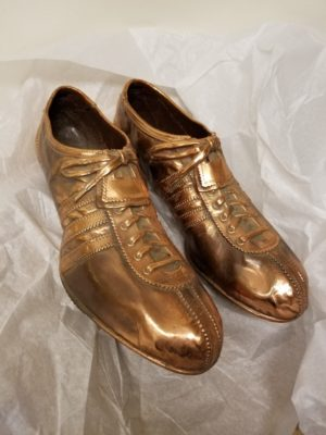 1960 RJ track shoes bronzed