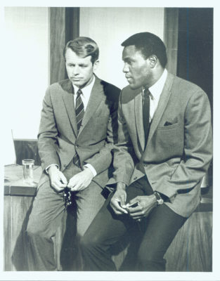 Rafer Johnson with Robert Kennedy in 1968