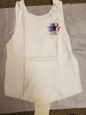 The tank top Rafer wore when he lit the Olympic Torch at the 1984 Olympic Games