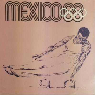 Mexico 68 XIX Olimpiada Sports Poster, Pommeled Horse. Offset lithograph 12 x 12 inches Comité Organizador de la XIX Olimpida Impresa en Mexico Por Miguel Galas, S.A.