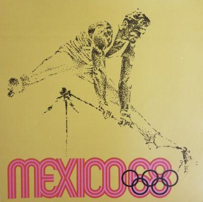 Mexico 68 XIX Olimpiada Sports Poster, Horizontal Bar. Offset lithograph 12 x 12 inches Comité Organizador de la XIX Olimpida Impresa en Mexico Por Miguel Galas, S.A.
