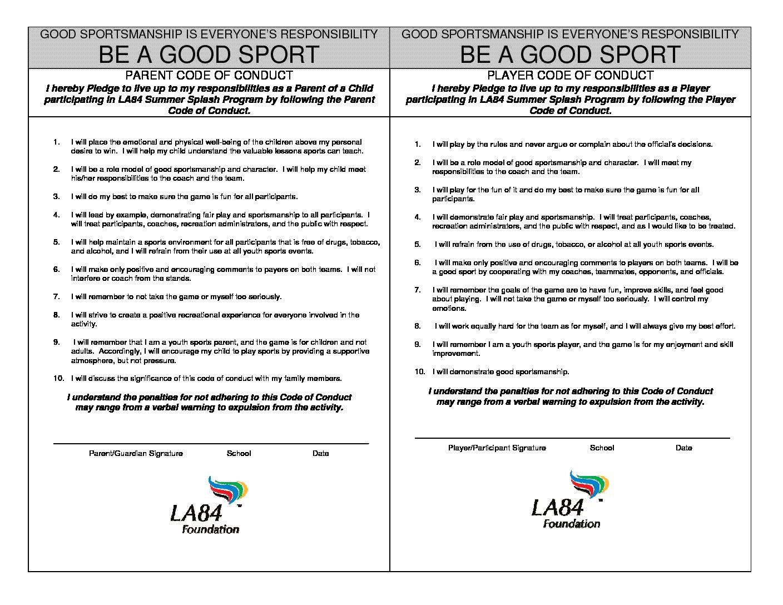 Code of conduct - LA84 Foundation