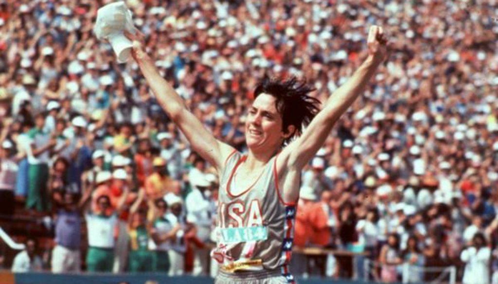 Joan finish line