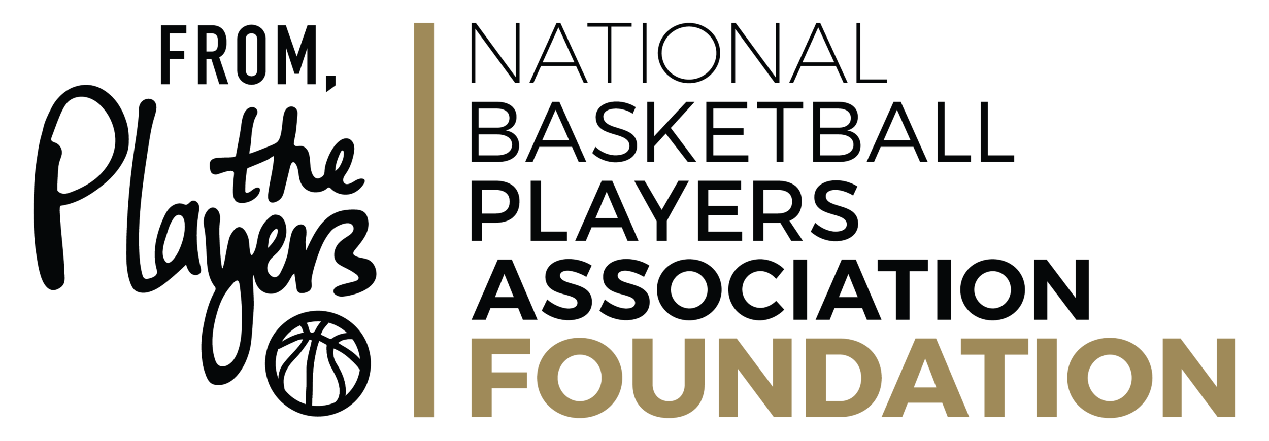 NBPA Foundation From the Players Logo Lockup Black 1