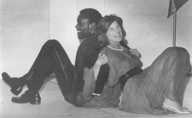 Rafer Johnson with Eunice Kennedy Shriver